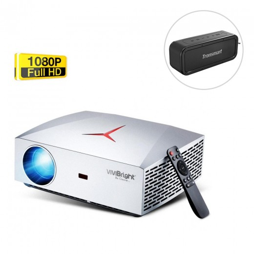 VIVIBRIGHT F40 Native 1080P Projector With Tronsmart Force Speaker