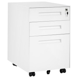 Merax Mobile Container With 3 Drawers - White