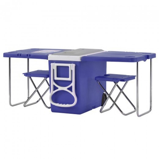 Outdoor Multifunctional Foldable Table Refrigeration Function 28L Capacity With Wheels For Picnic Hiking