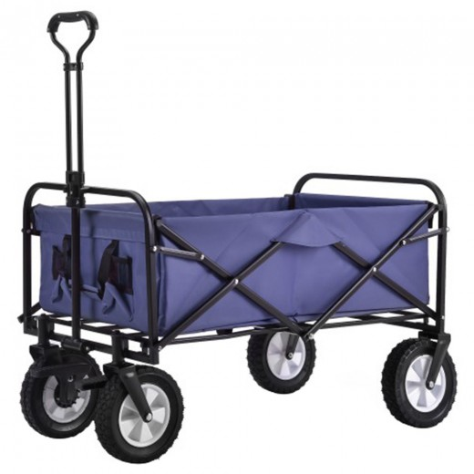 Collapsible Foldable Hand Cart With Wide Brake Wheels