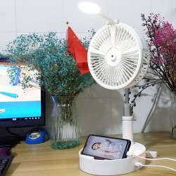 Smart Portable Foldable Adjustable Height Fan Hydration & Cooling Function With A Lamp