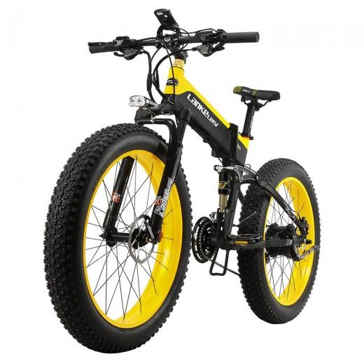 LANKELEISI XT750 Plus Foldable Electric Bike Bicycle - 12.8AH Power Lithium Battery
