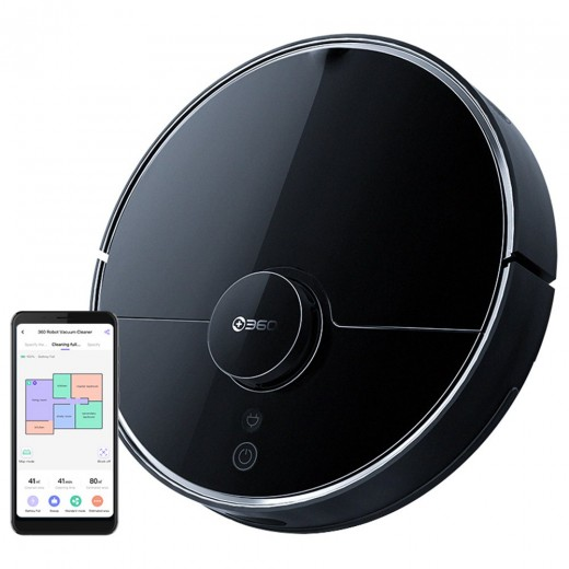 360 S7 Pro Laser Navigation Robot Vacuum Cleaner With SLAM Route Planning - Black (EU Plug)