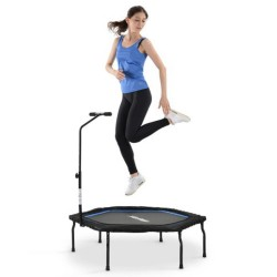 "Merax 50"" Foldable Fitness Bouncing Trampoline With T-shaped Height-adjustable Bar For Adults Max Limit 120 KG"