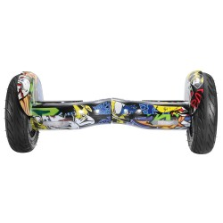 IMINA 10 inches Self Balancing Scooter Hoverboard with Bluetooth Speaker and StripLight