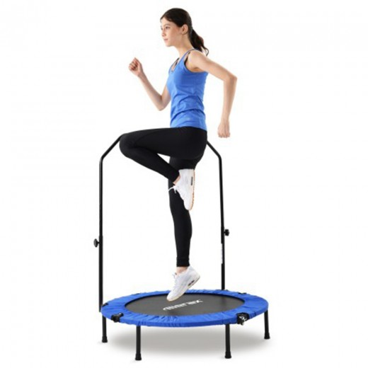 """Merax 40"""" Foldable Fitness Bouncing Trampoline With T-shaped Height-adjustable Bar Max Limit 100 KG"""