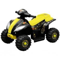 Kinder Elektro Quad 3 km/h Akku schwarz-gelb