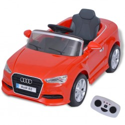 Kinder-Aufsitzauto mit Fernbedienung Audi A3 Rot