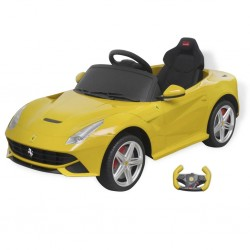 Kinder-Elektroauto Ferrari F12 Gelb 6 V mit Fernbedienung
