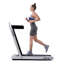 Merax 2.25 HP Electric Foldable Treadmill 2-in-1 Running Machine With Remote Control - Black