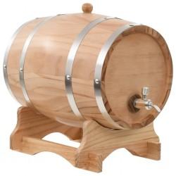 Weinfass mit Hahn Kiefernholz Massiv 12 L