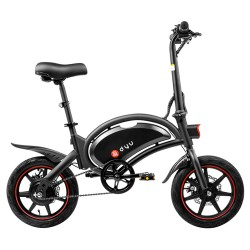 DYU D3F With Pedal Foldable Moped Electric Bike - 6AH Lithium Battery