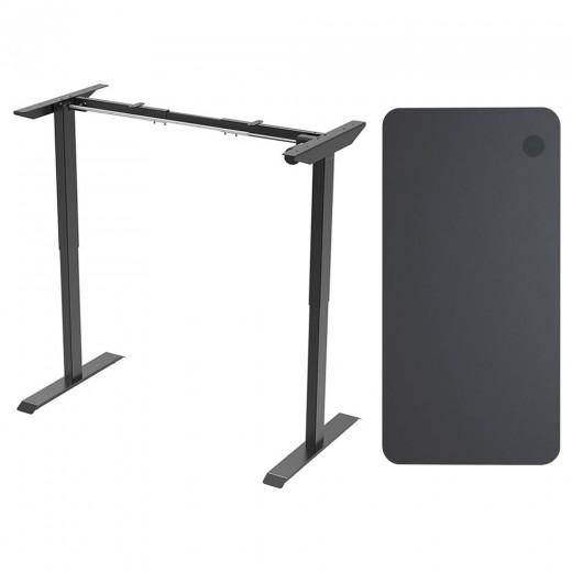 Acgam Electric Permanent Desk Frame Single Motor + Acgam Hoogwaardige tafelboard
