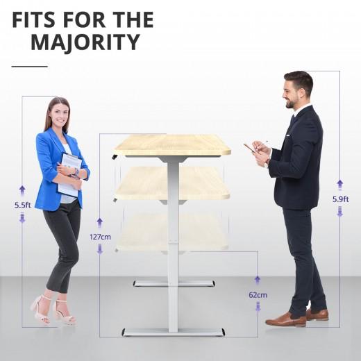 Acgam et225e elektrisch Drie-podium benen staande bureau frame dubbele motor + Acgam Hoogwaardige tafelboard