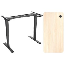 ACGAM ET225E Electric Three-stage Legs Standing Desk Frame  Dual Motor + ACGAM High Quality Table Board