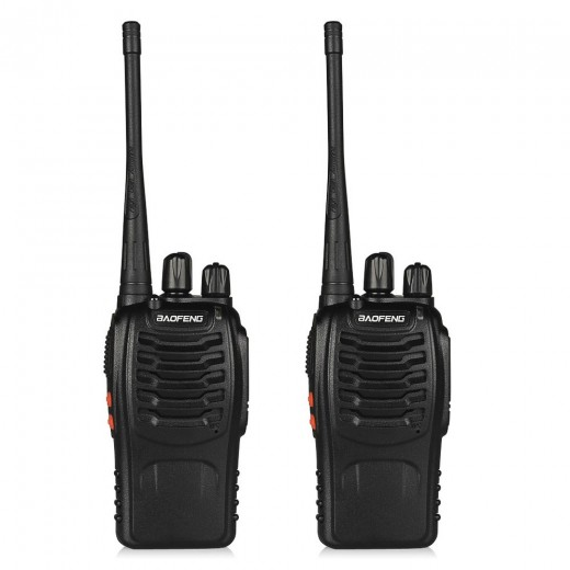 2 Pack Baofeng BF-888S Ham Two Way Radio, Walkie Talkie with Rechargeable Battery, Headphone Wall Charger