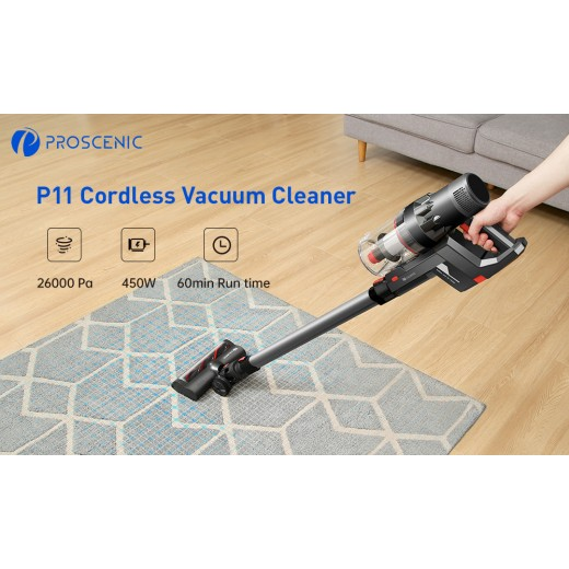 Proscenic P11 25Kpa Suction Power Handheld Cordless Vacuum Cleaner Mopping and Vacuuming in One Step