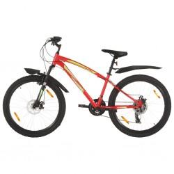 Mountainbike 21 Gang 26 Zoll Rad 36 cm Rot