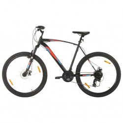 Mountainbike 21 Gang 29 Zoll Rad 53 cm Rahmen Schwarz