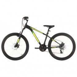 Mountainbike 21 Gang 27,5 Zoll Rad 38 cm Schwarz
