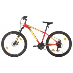 Mountainbike 21 Gang 27,5 Zoll Rad 38 cm Rot