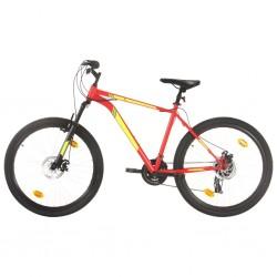 Mountainbike 21 Gang 27,5 Zoll Rad 42 cm Rot