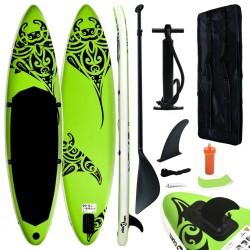 Aufblasbares Stand Up Paddle Board Set 320x76x15 cm Grün