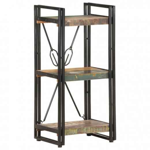 Bücherregal 3 Fächer 40x30x80 cm Altholz Massiv