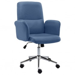 Bürostuhl Stoff Blau