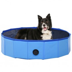 Hundepool Faltbar Blau 80 x 20 cm PVC