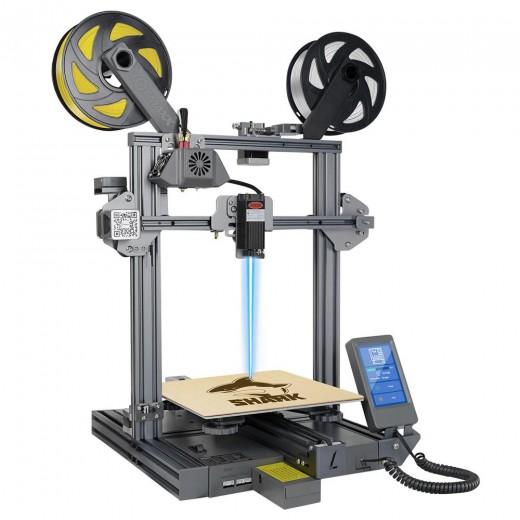 LOTMAXX Shark V2 3D-Drucker Dual Extruder Lasergravur Dual-Color-Druck