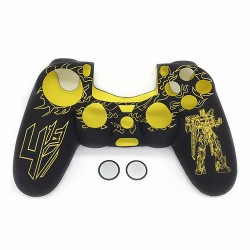 Silicone Gel Cover Controller Protective Case Sweat Resistant Anti-slip for PS4 - Yellow