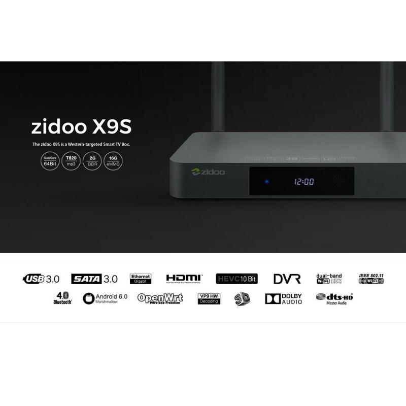 ZIDOO X9S Realtek RTD1295 Android 6 0 OpenWRT (NAS) TV Box