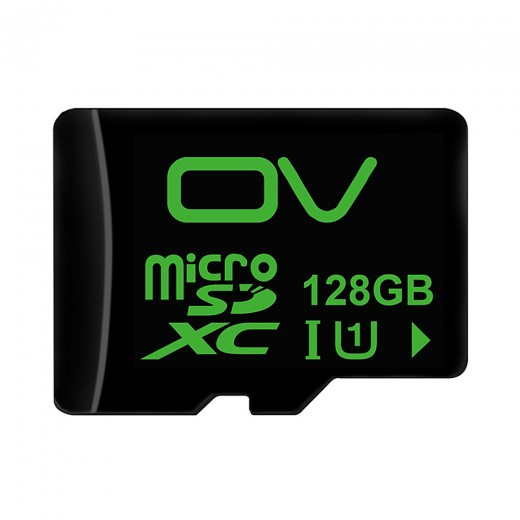 OV 128GB Class 10 Micro SD Card UHS-I U1 TF Card Mobile Phone External Memory Card - Black