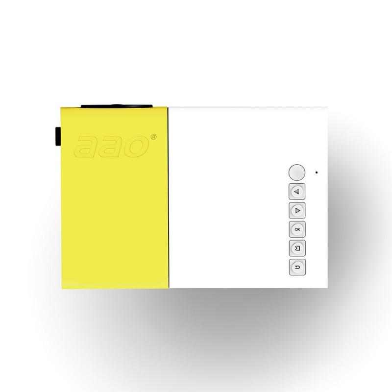 Aao yg 300 mini pocket lcd projector yellow geekmaxi com for Pocket lcd projector reviews