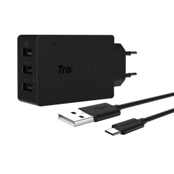 Tronsmart Qualcomm Certified Tronsmart Premium Design Quick Charge 2.0 42W 3 Ports Wall Charger for Samsung/Sony/HTC