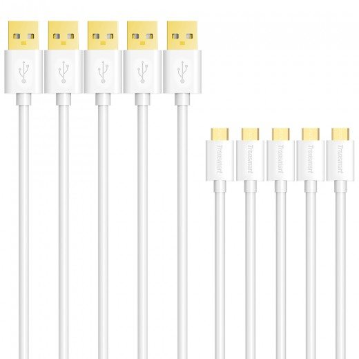 Tronsmart USB 2.0 Male to Micro USB Cable 5 Pack