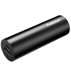 Tronsmart Bolt 5000mAh Premium Portable Charger with VoltiQ Technology for iPhone, Samsung and More - Black