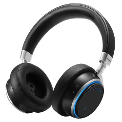 Tronsmart Arc Wireless Bluetooth Headphones with Superior Sound Quality Blue Ring Lights Intuitive Control