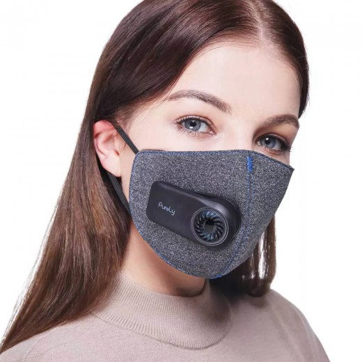Xiaomi Mijia Purely Breathing Mask With Fan Quiet Block PM 2.5 Passive Smoking Anti-dust Comfortable Ventilate - Black