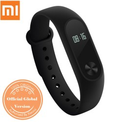 Originele internationale versie Xiaomi Mi Band 2 OLED hartslagmonitor, IP67 waterdicht Smartband zwart