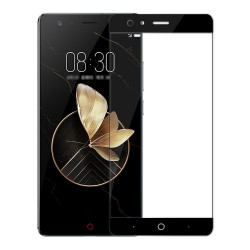 Black Nubia Z17 Glass Film 0.26mm 2.5D Arc Edge Explosion-proof Membrane Screen Film