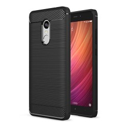 Black Xiaomi Redmi Note 4X High Quality Brushed Carbon Fiber Drop Resistance Phone Case