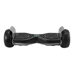 T8 Electric Self Balance Scooter With Bluetooth Speaker 8.5 Inch Tire 15km Mileage EU Plug - Grey Black