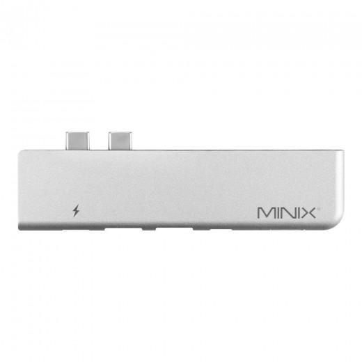 MINIX NEO C-DGR USB-C Multiport-Adapter mit HDMI-Ausgang für Apple MacBook Pro TV Box - Grau