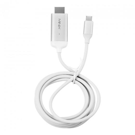 MINIX NEO C-4KSI USB-C to 4K60Hz HDMI Cable 180cm - Silver