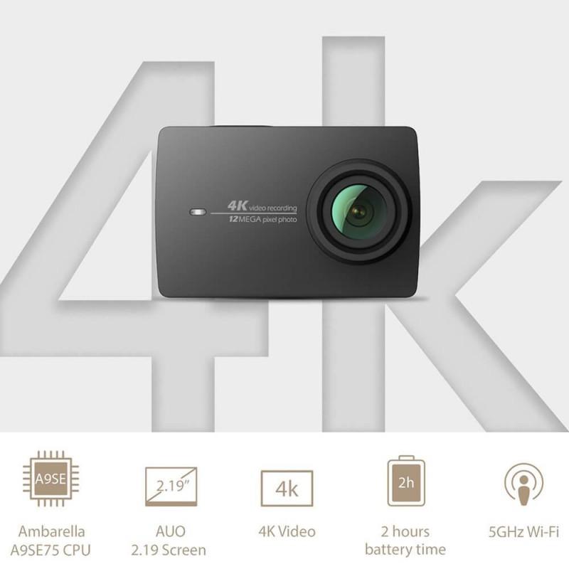 Yi 4k Action Camera 2 2 19 Retina Screen Ambarella A9se75