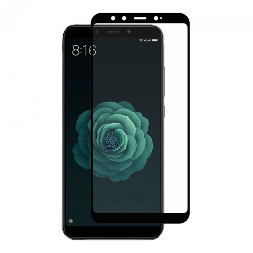 Hat-Prince ENKAY Tempered Glass Film For Xiaomi Mi A2/6X 0.26mm 2.5D Explosion-proof Membrane - Black
