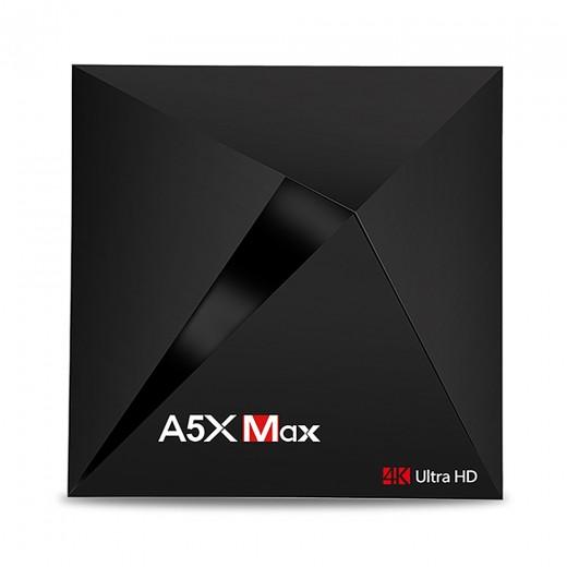 A5X MAX Android 7.1.1 KODI 17.3 4GB/32GB RK3328 4K HDR TV Box WIFI Bluetooth LAN VP9 USB3.0