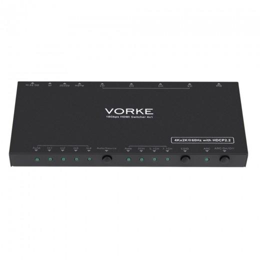 VORKE HD41 Pro 4k HDMI Switch with IR Remote